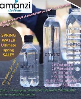 Spring Water with no added Chemicals