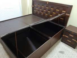 Wooden box bed made in India - Price Dropped!