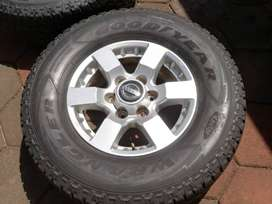 New np300 rims with 85% wrangler tyres good year