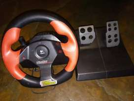 Wingman steering wheel and pedals