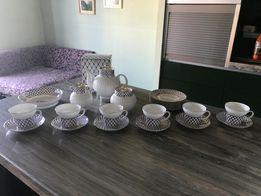 Porcelana kostna Petersburska serwis kawowy - Łomonosov