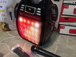 BLUETOOTH БУМБОКС с МР3 micro SD,USB,FM+радио микрофон+пульт ДУ,40Ват