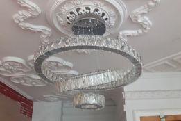 6805 Lampa Kryształowa, żyrandol kryształowy, trzy pierścienie 5 cm