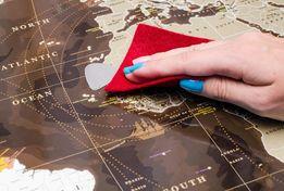Скретч-карта мира My Map Chocolate edition Шоколад