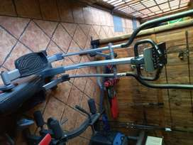Elliptical trainer weights and benches