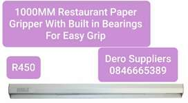 Restaurant Paper Gripper 1000mm With Built In Bearings for Easy Grip