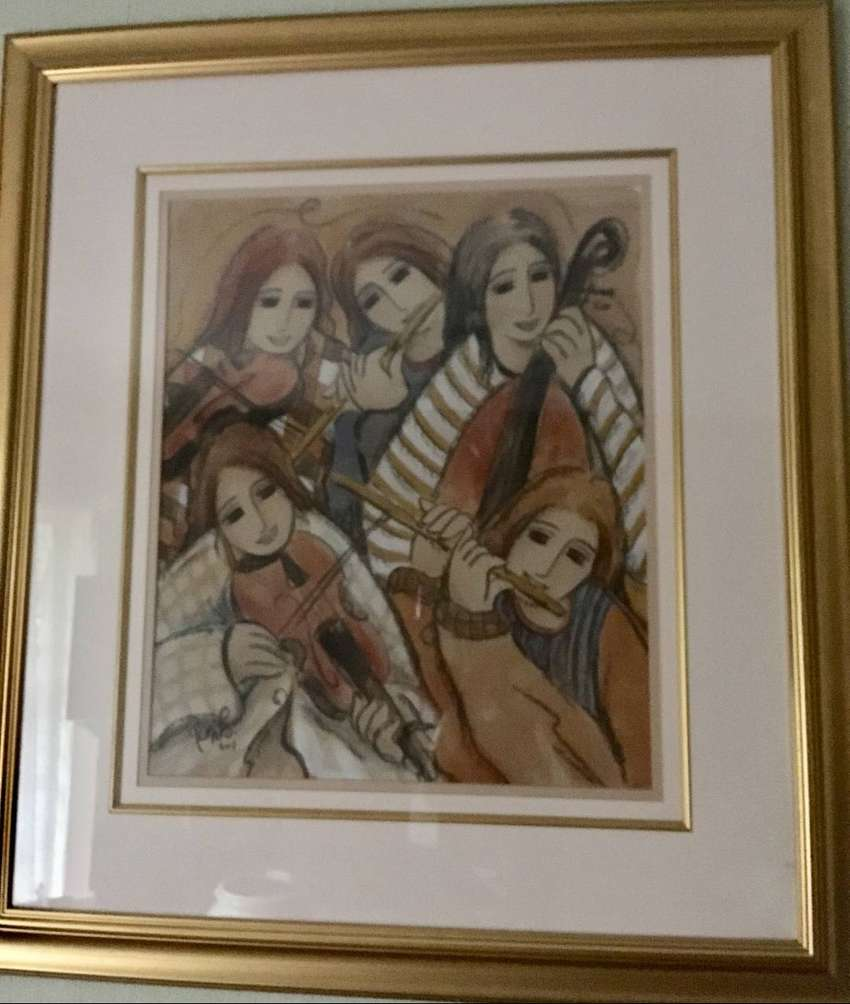 Remito Original Artwork Abstract Musicians Size about A1 0