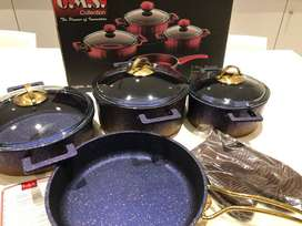 7 Piece Granite Die Cast Cookware Set - Must be seen to be appreciated