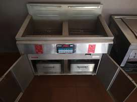 Deep fryer, electric with 2x 10L pan capacity