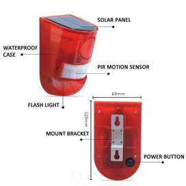 led solar alarm botton