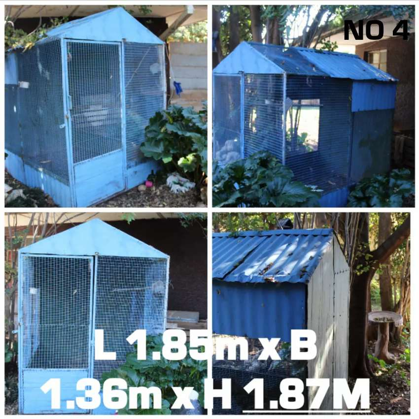 4x bird cages for sale