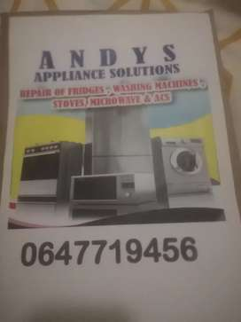 Appliance Repairs specialists on fridges washing machines tv's stove