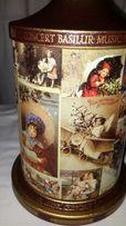 Жестяная банка коробка от чая Basilur серия Музыкальная шкатулка Рожд