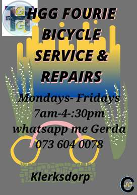 HGG FOURIE BICYCLE SERVICE & REPAIRS