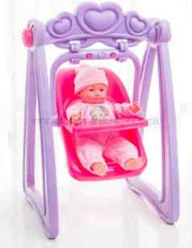 Gift Ideas: Kids Toys: Sweet Baby Doll Swing With Detachable Car