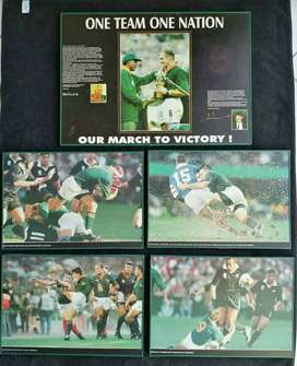 """Rugby world cup (1995) special """"blocked """" photosphoto"""