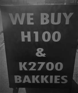 We Buy H100 and Kia K2700 Bakkies