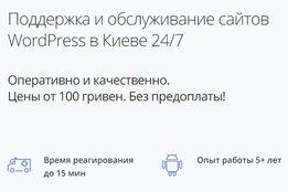 WP-BÜRO - Поддержка и доработка сайтов Wordpress. Без предоплаты