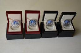 Srebrna moneta+drewniane pudełko,NBP, Papież, prezent, Komunia ,Święta