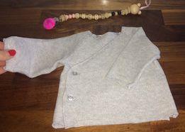 Lindex sweterek kopertowy z bawełny ekologicznej 56 cm