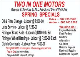 Springs Special on Services