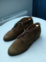 Jeff Banks London botki trzewiki chukka zamsz 42 Dainite sole podeszwa
