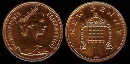 1979 Great Britain New Penny 1 PENNY Монета 1 Elizabeth II