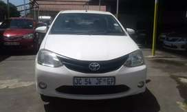 2017 model Toyota etios 1.6 white in color with 38000km