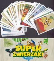 Karty Super Zwierzaki / naklejki Gang Świeżaków Biedronka z Biedronki