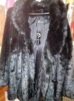 Пальто из уютного искусственного меха норки