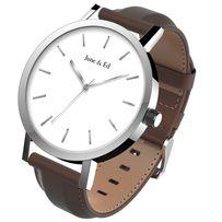 Мужские часы кварцевые, корпус из стали 42 мм (покупались на Амазон).