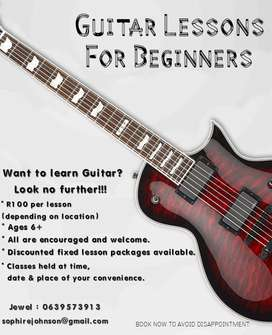 Guitar Lessons Offered