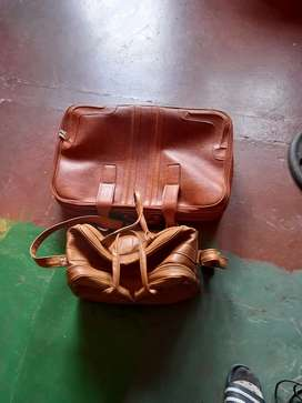 Travel bags leather