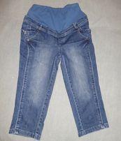 Джинсовые капри бриджи штаны джинсы для беременных размер 40 XS S