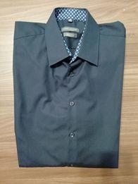Koszula męska długi rękaw roz L slim fit kolor granatowy