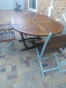 Patio table and 3 chairs