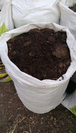 Перегной коровий говяжий сыпец навоз удобрение, беспл дост от 50мешков