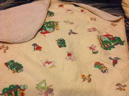 Одеяло детское хлопок- овчина 140 на 105 и пододеяльник к нему
