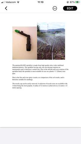 New Kado Vegetable Farming Sprinklers