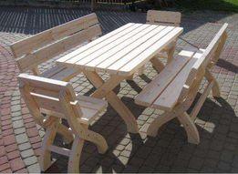 Meble ogrodowe Stół + 2 Ławki + 2 Krzesła MEGA SOLIDNE !! KLASA
