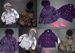 Zestaw firmowych kurteczek dla dziewczynki 18-24mieś
