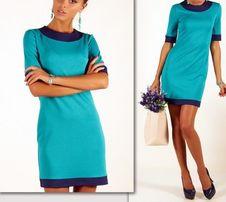 Платье голубого цвета,S-36, новое