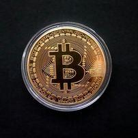 BITCOIN moneta kolekcjonerska KRYPTOWALUTA BTC