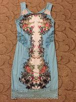 Платье,сарафан Raw камни,стразы с принтом