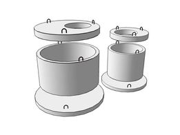 Кольца железобетонные для сливных (выгребных) ям