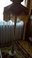 Duża lampa stojąca alabaster onyks + mosiądz