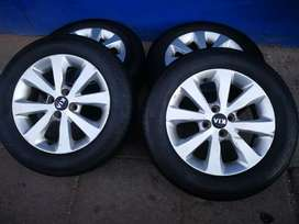 A set of KIV rims and tyres 15inche for sale it's available now