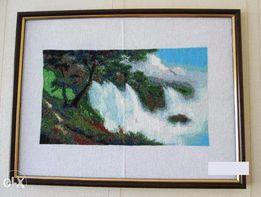 Продам вышитую крестиком картину 17*30 см