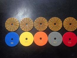 Алмазные гибкие шлифовальные круги ( Липучки. Черепашки )