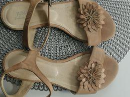 skórzane sandałki rozmiar 37